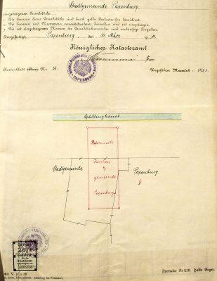 Auszug Katasteramt Papenburg 1911
