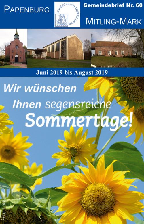 Gemeindebrief Juni-August 2019